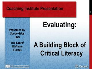 Coaching Institute Presentation