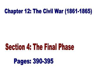 Chapter 12: The Civil War (1861-1865)