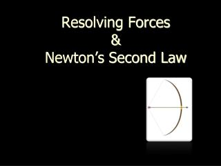 Resolving Forces & Newton's Second Law