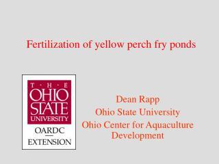 Fertilization of yellow perch fry ponds