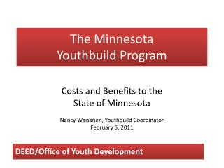 The Minnesota Youthbuild Program