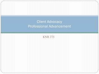 Client Advocacy Professional Advancement