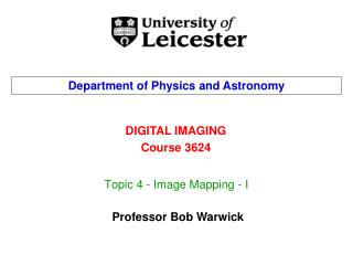 Topic 4 - Image Mapping - I