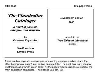 The Clandestine Cataloger