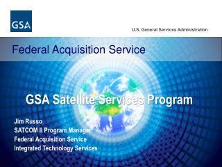 GSA Satellite Services Program