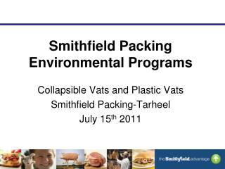 Smithfield Packing Environmental Programs