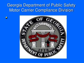 Georgia Department of Public Safety Motor Carrier Compliance Division