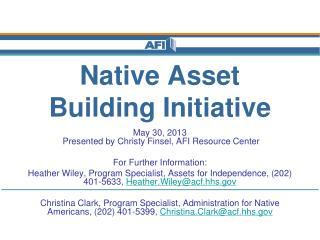 Native Asset Building Initiative