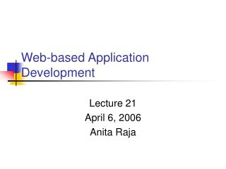 Web-based Application Development