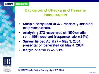 Background Checks and Resume Inaccuracies