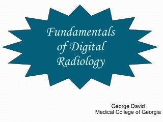 Fundamentals of Digital Radiology