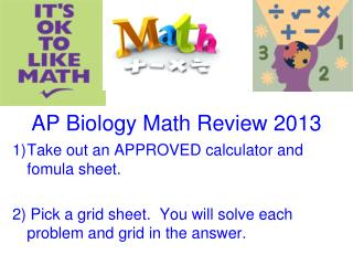 AP Biology Math Review 2013