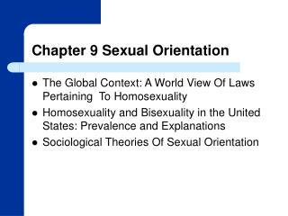 Chapter 9 Sexual Orientation