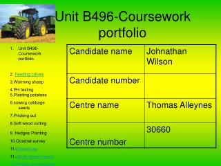 Unit B496-Coursework portfolio