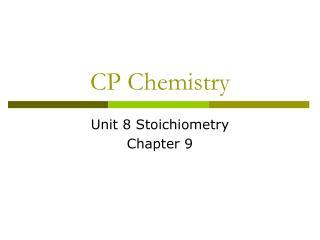 CP Chemistry