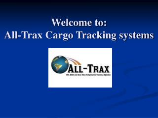 Welcome to: All-Trax Cargo Tracking systems
