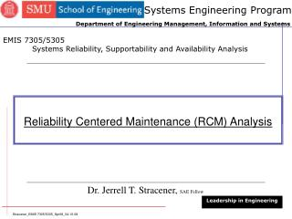 Reliability Centered Maintenance (RCM) Analysis