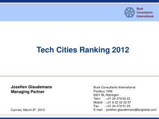 Tech Cities Ranking 2012