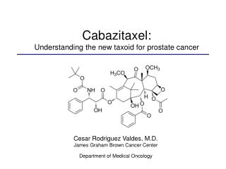 Cabazitaxel:  Understanding the new taxoid for prostate cancer
