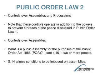 PUBLIC ORDER LAW 2