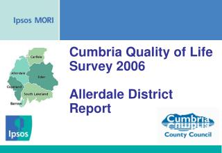 Cumbria Quality of Life Survey 2006 Allerdale District Report