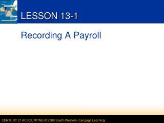 LESSON 13-1