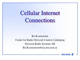 Cellular Internet Connections
