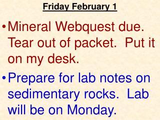 Friday February 1