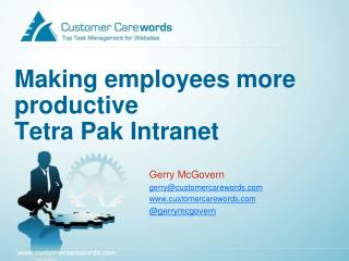 Making employees more productive Tetra Pak Intranet