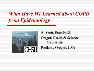 What Have We Learned about COPD from Epidemiology