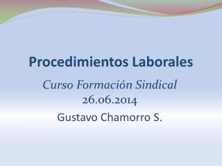 Procedimientos Laborales