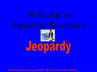 Welcome to American Revolution
