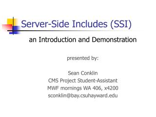 Server-Side Includes (SSI)