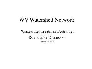WV Watershed Network