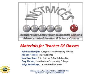 Materials for Teacher Ed Classes