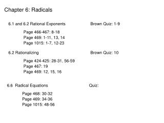 Chapter 6: Radicals