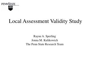 Local Assessment Validity Study