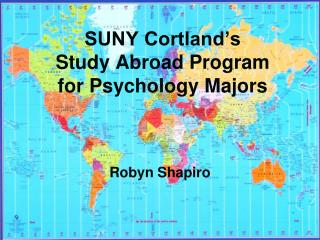 SUNY Cortland's  Study Abroad Program for Psychology Majors