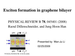Exciton formation in graphene bilayer