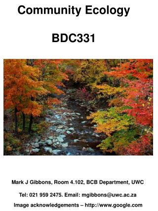 Community Ecology BDC331