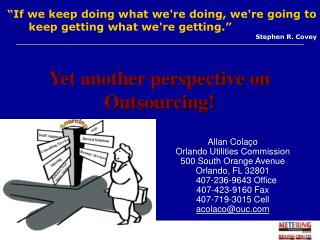 Allan Colaço Orlando Utilities Commission 500 South Orange Avenue Orlando, FL 32801