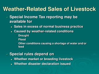 Weather-Related Sales of Livestock