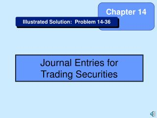 Journal Entries for Trading Securities