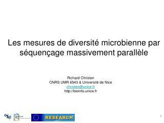 Les mesures de diversité microbienne par séquençage massivement parallèle