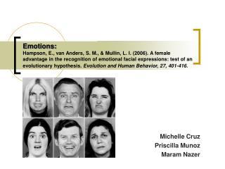 Michelle Cruz Priscilla Munoz Maram Nazer