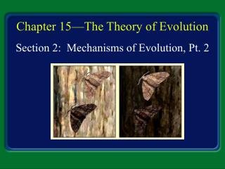 Chapter 15—The Theory of Evolution