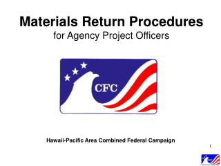 Materials Return Procedures for Agency Project Officers