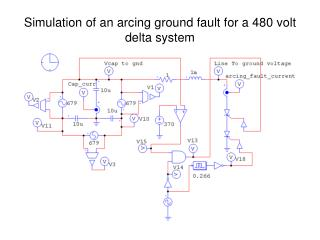 Simulation of an arcing ground fault for a 480 volt delta system