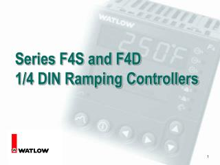 Series F4S and F4D  1/4 DIN Ramping Controllers