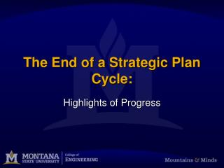 The End of a Strategic Plan Cycle:
